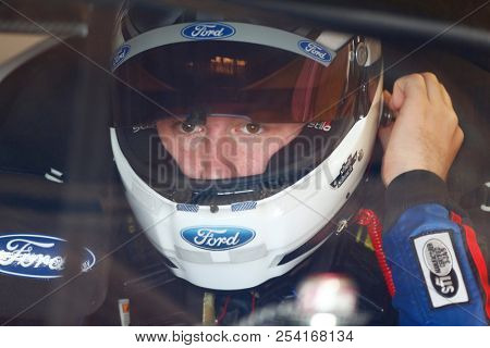 August 10, 2018 - Lexington, Ohio, USA: Chase Briscoe (60) gets ready to practice for the Rock N Roll Tequila 170 at Mid-Ohio Sports Car Course in Lexington, Ohio.