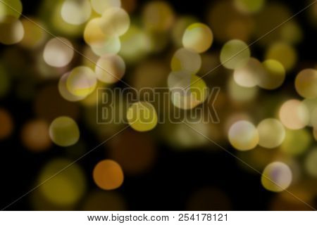 Bokeh, Digital Bokeh, Yellow Digital Bokeh, Abstract Background, Blurred Lights