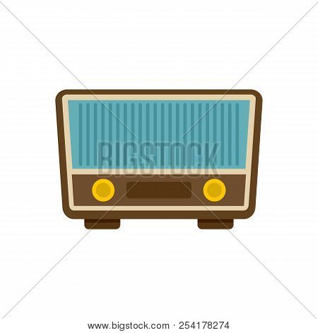 Retro Vintage Radio Icon. Flat Illustration Of Retro Vintage Radio Icon For Web Isolated On White
