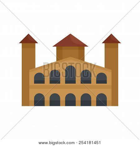 Hystorical Building Icon. Flat Illustration Of Hystorical Building Icon For Web Isolated On White