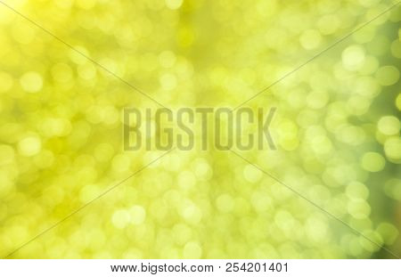 Abstract Green Bokeh Circles For Christmas Background. Royalty High-quality Free Stock Photo Of Chri