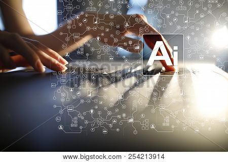 Ai, Artificial Intelligence, Machine Learning, Neural Networks And Modern Technologies Concepts. Iot
