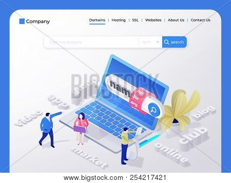 Find And Buy A Domain Name. Page Design Templates For Hosting Company, Digital Marketing, Business P