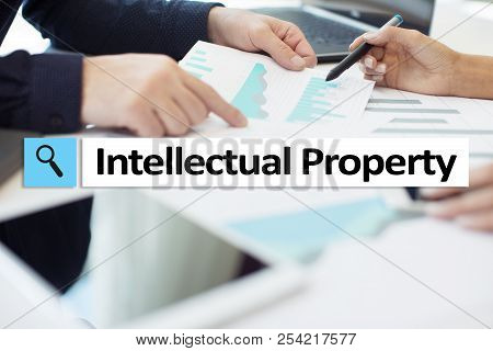 Intellectual Property Rights. Patent. Business, Internet And Technology Concept.
