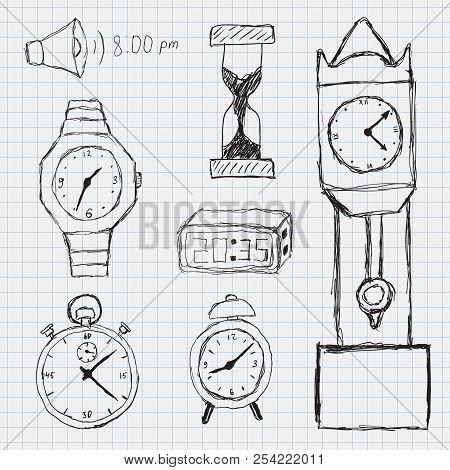 Set Doodle Sketch Vector & Photo (Free Trial) | Bigstock