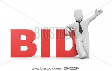 Bid. Business concept