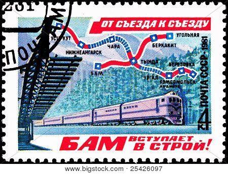 Baikal-amur Railroad Train Map