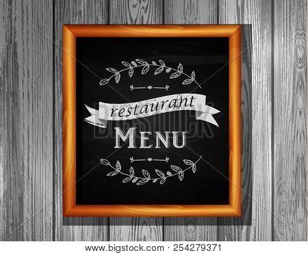 Restaurant Menu Board Restaurant Menu Bulletin Board With Chalk Stroked Alphabet Capital Letters, Nu
