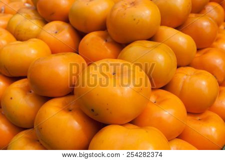 Persimmon Sweet Summer Fruit Faw Fresh Food.