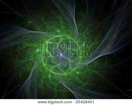 Abstract fractal swirly star texture
