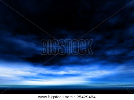 deep blue sky and clouds background