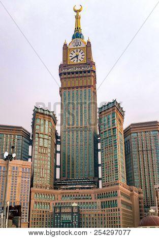 MECCA,SAUDI ARABIA-SEPTEMBER 24, 2016: Abraj Al Bait (Royal Clock Tower Mecca) in Mecca, Saudi Arabia.