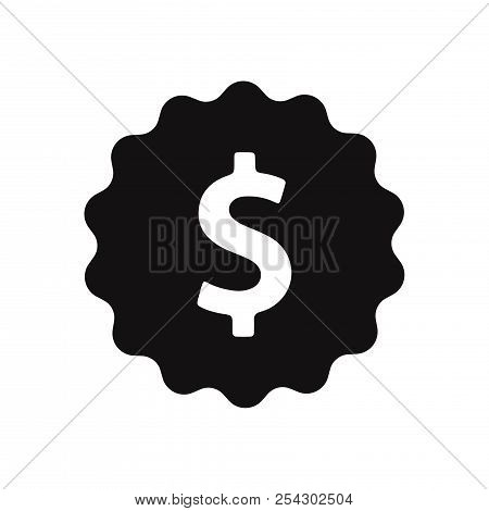 Dollar Icon Isolated On White Background. Dollar Icon  In Trendy Design Style. Dollar Vector Icon Mo