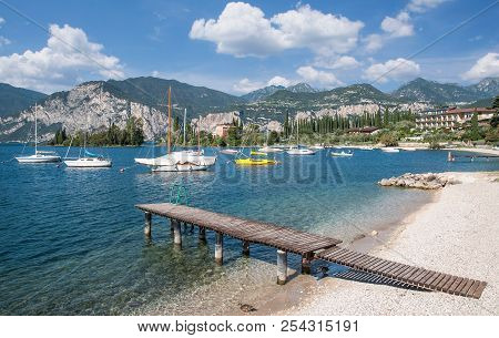 Idyllic Place At Lake Garda In Val Di Sogno Near Malcesine,italy