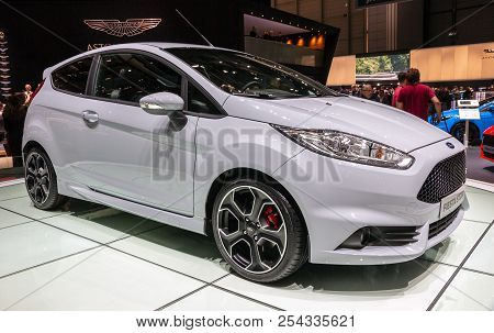 Geneva, Switzerland - March 2, 2016: Ford Fiesta St200 Car Showcased At The 86th Geneva Internationa