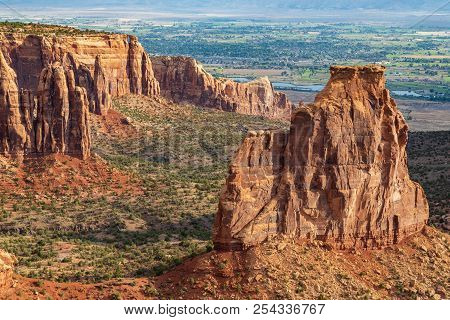 The Rugged Scenic Landscape Of Colorado National Monument Near Grand Junction Colorado