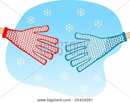 Shaking Hands Winter