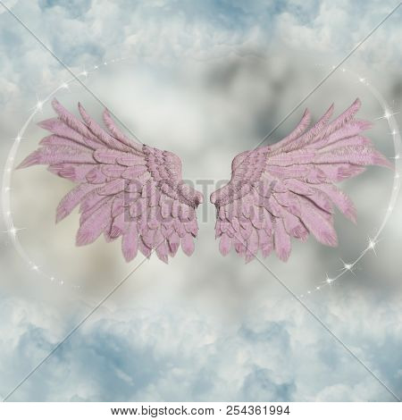 Beautiful Wings In The Sky With Stars