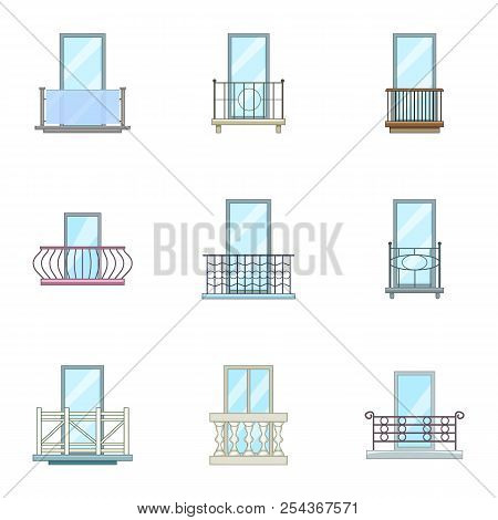 Viewport Icons Set. Cartoon Set Of 9 Viewport Vector Icons For Web Isolated On White Background