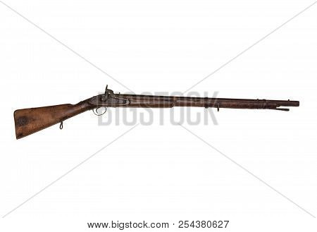 Vintage Two Band Musket Sometimes Called A Muskettoon Use In The Civil War