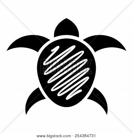 Small Turtle Icon. Simple Illustration Of Small Turtle Vector Icon For Web Design Isolated On White