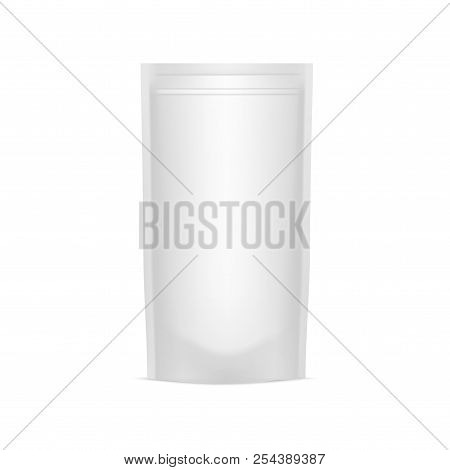 Blank Of Doy Pack For Your Design. Mock Up. Vector.