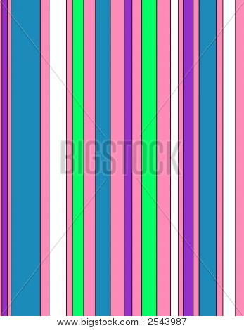 Colorful Stripes On A Pink Background