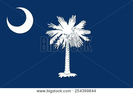 Flag Of The Usa State Of South Carolina, Vector