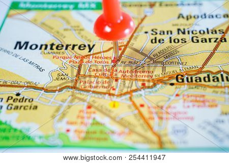City Of Monterey, On The United States Map