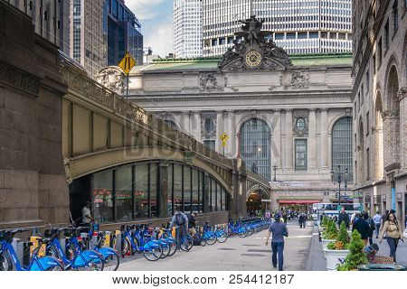 New York, Usa - May 15, 2018: View Of Grand Central Terminal In Midtown Manhattan Of New York City