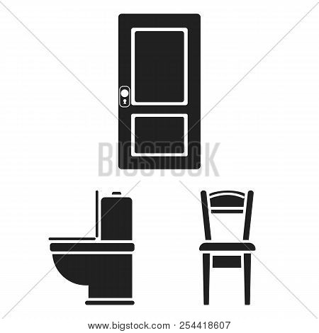 Furniture And Interior Black Icons In Set Collection For Design.home Furniture Vector Symbol Stock W