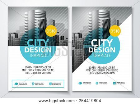 Vector Illutration Poster Flyer Pamphlet Brochure Cover Design Layout Template In A4 Size With Graph