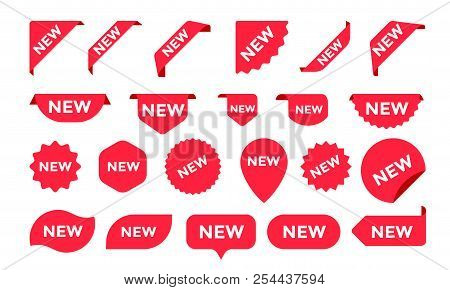 Stickers For New Arrival Shop Product Tags, New Labels Or Sale Posters And Banners Vector Sticker Ic