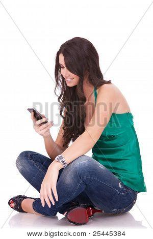 Woman Sending An Sms