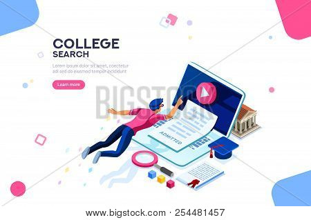 Teaching And Research, College Infographic. Tutorial Online, Courses, Seminar, Class At Desk Of Know
