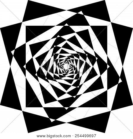 Abstract Frame Multiple Descending Perspectives Black On Transparent Background