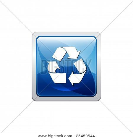 Recycling blue button