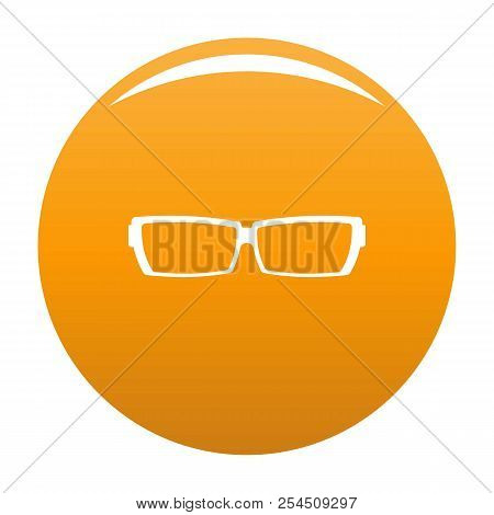 Astigmatic Glasses Icon. Simple Illustration Of Astigmatic Glasses Icon For Any Design Orange