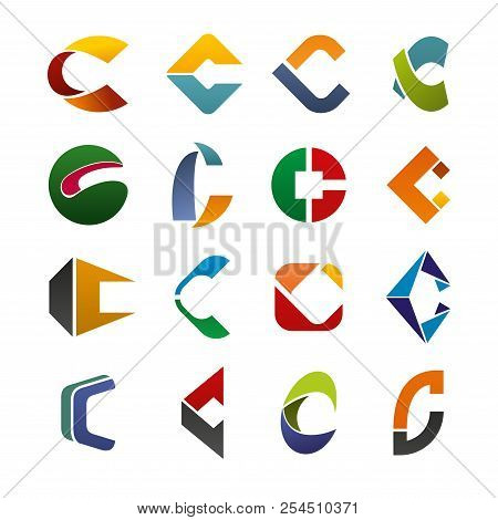 Abstract Letter C Design For Corporate Identity. Vector Letter C Symbols For Business, Construction