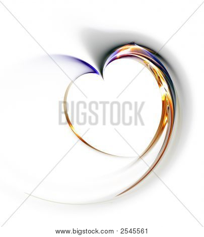 Delicate Heart On A White Background