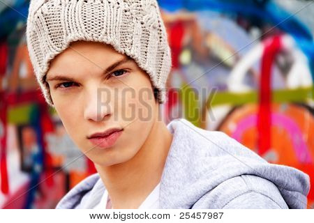 cool-looking young man