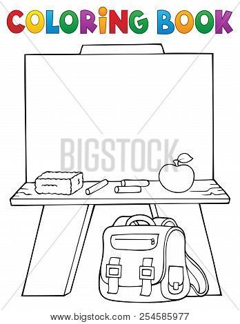 Coloring Book Schoolboard Topic 1 - Eps10 Vector Picture Illustration.