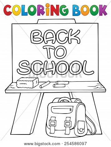 Coloring Book Schoolboard Topic 2 - Eps10 Vector Picture Illustration.