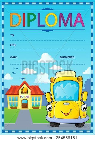 Diploma Design Image 5 - Eps10 Vector Picture Illustration.