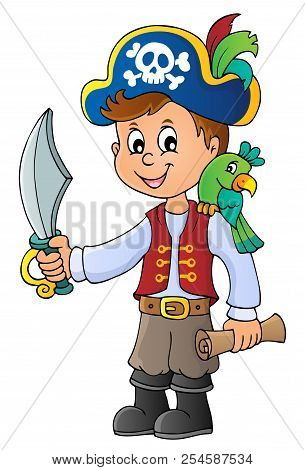 Pirate Boy Topic Image 1 - Eps10 Vector Picture Illustration.