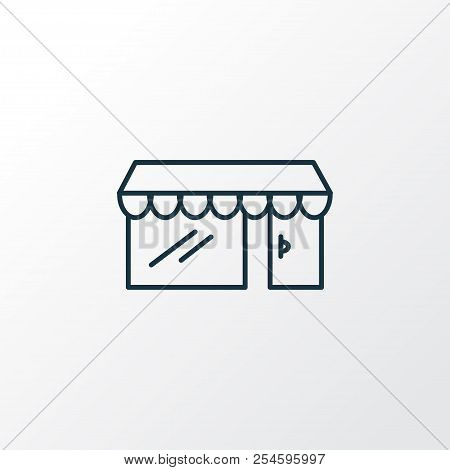 Storefront Icon Line Symbol. Premium Quality Isolated Shop Element In Trendy Style.