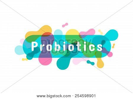 Probiotics Bacteria Logo. Simple Flat Style Trend Modern Logotype Graphic Design Isolated On White B