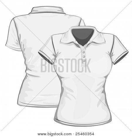 Vector. Women's polo-shirt design template.