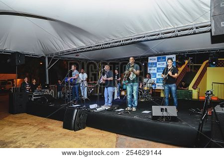 Projeto Som Do Coreto Event At The Praca Cuiaba Square With The Pegada De Macaco Band