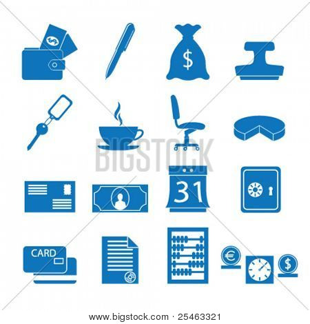 Vector illustration of icons on the subject of Finance